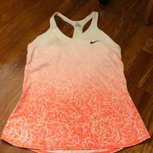 Nike Dri-Fit Orange White Tank top Medium Tennis